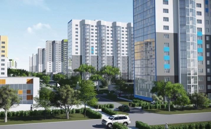 Продается трехкомнатная квартира за 2 420 000 рублей. Барнаул, Индустриальный район, Северный Власихинский проезд, 116.