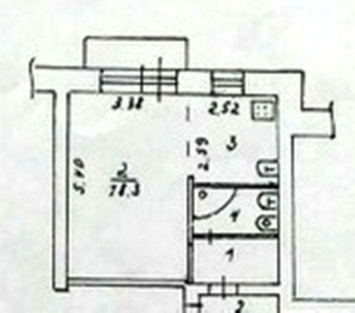 Продается однокомнатная квартира за 1 350 000 рублей. Пермский край, г Краснокамск, ул Февральская, д 4.