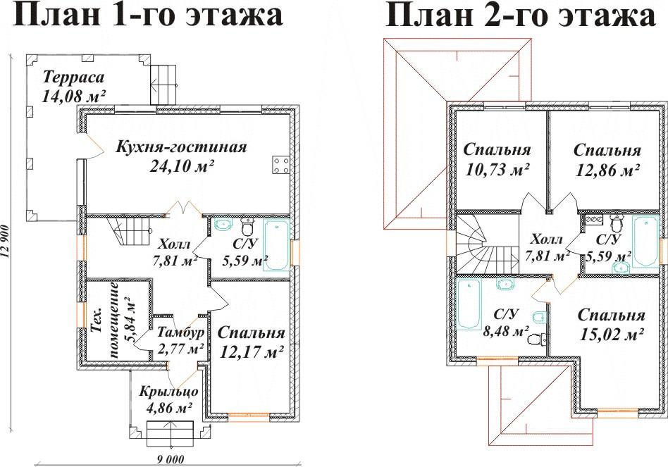 шкурке схема и картинки дома двухэт пять комнат решение
