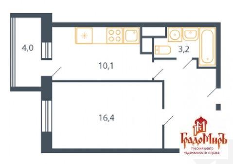 Продается однокомнатная квартира за 2 090 000 рублей. Мытищи, Центральная, 9.