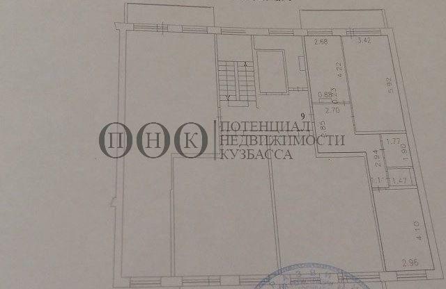Продается двухкомнатная квартира за 2 730 000 рублей. Кемерово, Заводский район, Юрия Двужильного, 26.