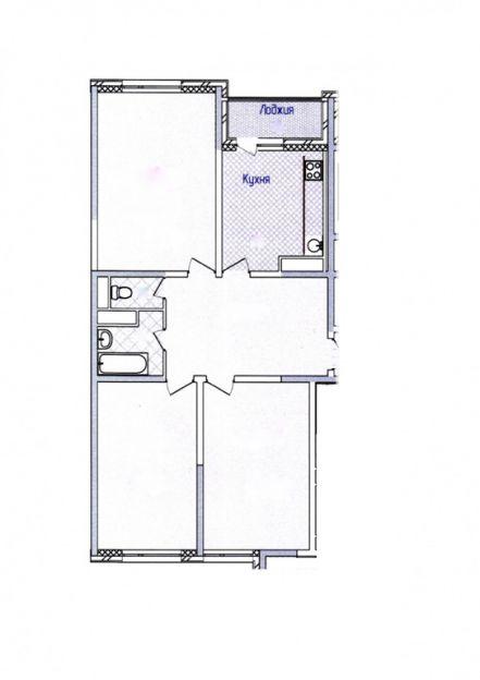 Продается трехкомнатная квартира за 5 000 000 рублей. Московская обл, г Раменское, Северное шоссе, д 42.