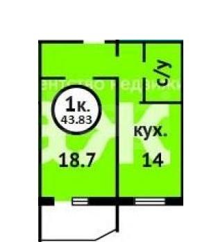 Продается однокомнатная квартира за 1 800 000 рублей. Томск, Октябрьский район, Железнодорожная, 1.