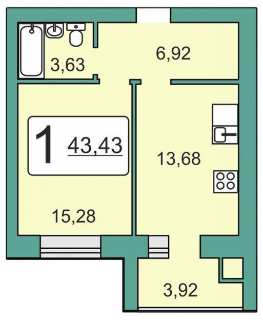 Продается однокомнатная квартира за 1 967 967 рублей. Рязань, Мервинская, 20.