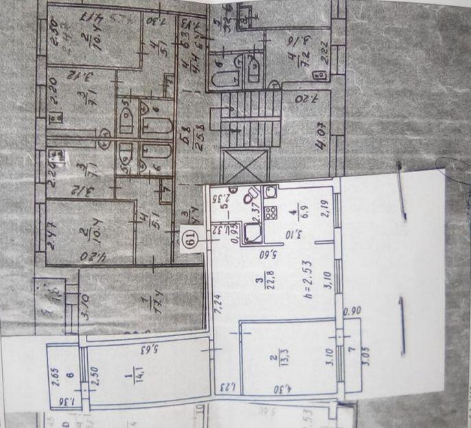 Продается трехкомнатная квартира за 2 300 000 рублей. Омск, Центральный район, Северная 5-я, 193 корп. 1.