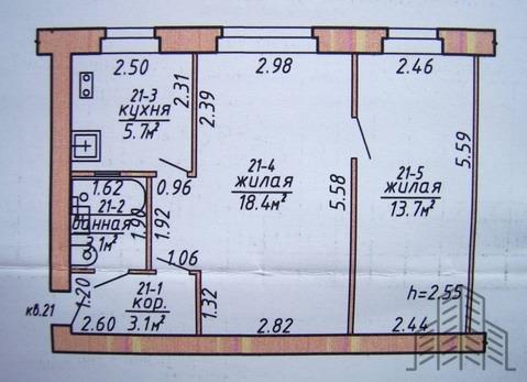 Продается двухкомнатная квартира за 1 950 000 рублей. Калининград, Каштановая аллея, 168.