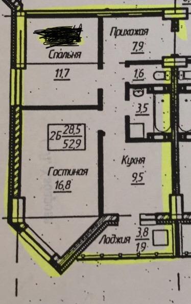 Продается двухкомнатная квартира за 3 400 000 рублей. Красноярск, Советский район, Воронова, 20.