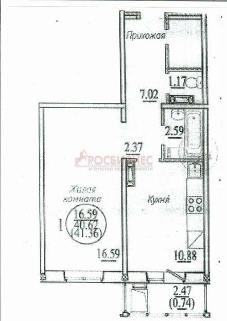 Продается однокомнатная квартира за 1 230 000 рублей. Новосибирск, Кировский район, Бронная, 40/3.