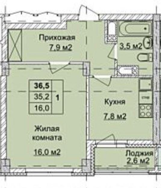 Продается однокомнатная квартира за 3 450 000 рублей. Нижний Новгород, Ленинский район, Окская, 3.