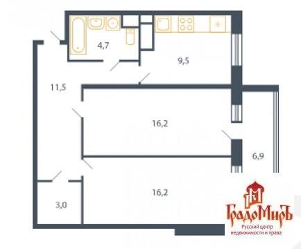 Продается двухкомнатная квартира за 3 010 000 рублей. Мытищи, Центральная, 9.