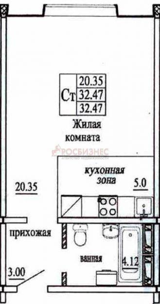Продается однокомнатная квартира за 1 370 000 рублей. Новосибирск, Октябрьский район, Татьяны Снежиной, 19/3.