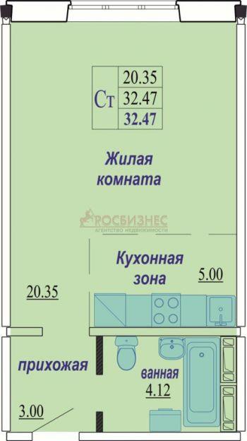 Продается однокомнатная квартира за 1 320 000 рублей. Новосибирск, Октябрьский район, Татьяны Снежиной, 31.