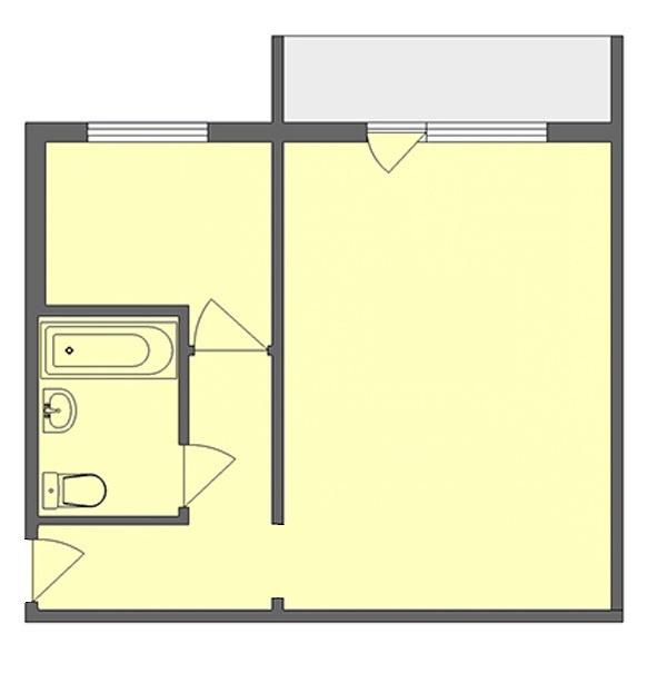 Продается однокомнатная квартира за 1 800 000 рублей. Пермь, Свердловский район, Народовольческая, 40.