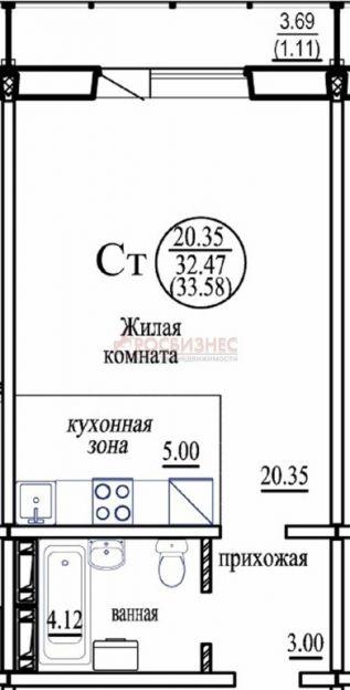 Продается однокомнатная квартира за 1 200 000 рублей. Новосибирск, Октябрьский район, Виталия Потылицына, 143/4.