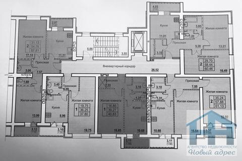Продается однокомнатная квартира за 1 187 200 рублей. Орёл, Космонавтов, 4.