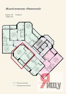 Продается однокомнатная квартира за 3 800 000 рублей. Раменское, Северное шоссе, 16б.
