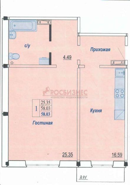 Продается однокомнатная квартира за 1 900 000 рублей. Новосибирск, Октябрьский район, Виталия Потылицына, 150/2.
