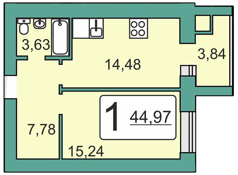 Продается однокомнатная квартира за 1 900 584 рублей. Рязань, Мервинская, 20.