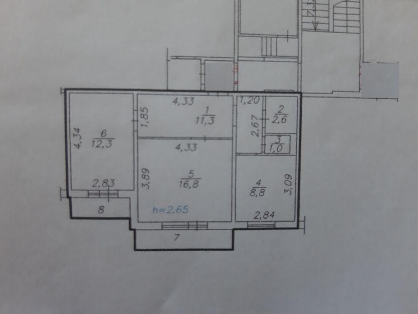 Продается двухкомнатная квартира за 3 300 000 рублей. г Красноярск, ул Линейная, д 97.