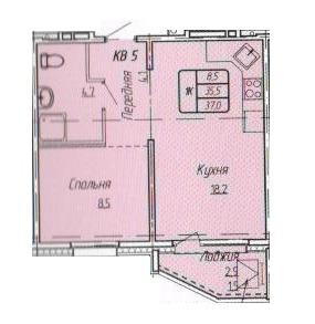 Продается однокомнатная квартира за 1 738 600 рублей. г Барнаул, ул Энтузиастов, д 55.