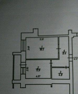 Продается однокомнатная квартира за 3 000 000 рублей. Калуга, Фомушина, 3.