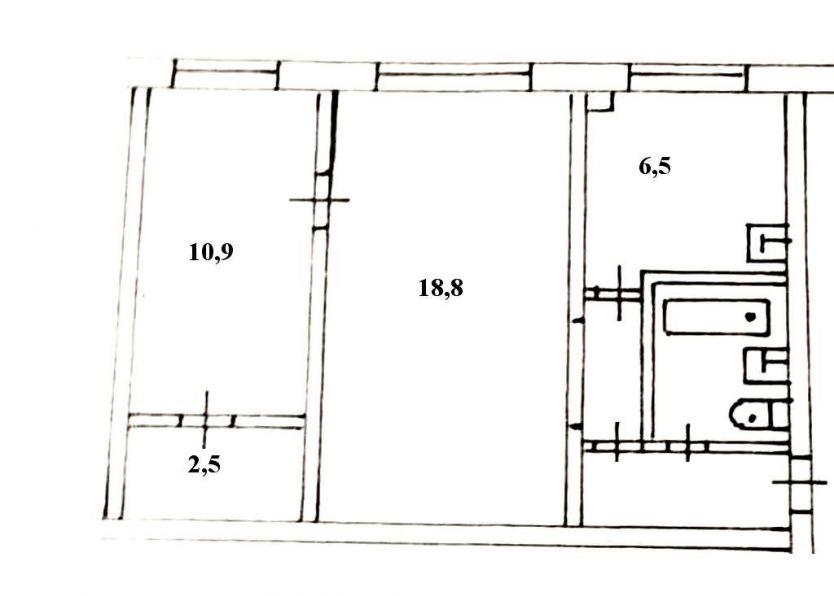 Продается двухкомнатная квартира за 2 600 000 рублей. Красноярск, Ленинский район, Волгоградская, 19а.