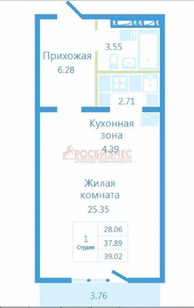 Продается однокомнатная квартира за 1 144 000 рублей. Новосибирск, Октябрьский район, В. Высоцкого, 141/5.