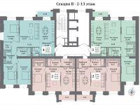 планы секция В - 2 этаж