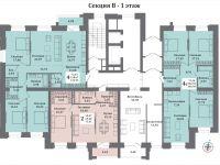 планы секция В - 1 этаж