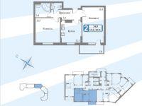 Планы квартир блок 3 секция. 3-16.3