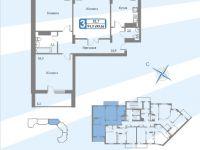 Планы квартир блок 3 секция. 3-16.4