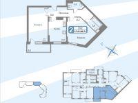 Планы квартир блок 3 секция. 3-16.2