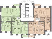 планы секция В - 14 этаж